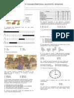 Evaluacion Diagnostica Quinto Grado (MATEMATICAS)