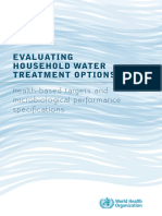 Evaluating Household Water Treatment Options (OMS)