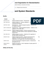List of All the ISO Management System Standards