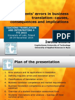 Students' errors in business translation