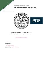 Parcial Literatura Arg. I 2015