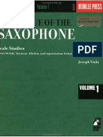 Joseph Viola Technique of the Saxophone 1 Scale Studies