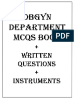 OBGYN Department MCQs Book
