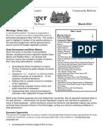 Senator Krueger's Community Bulletin - March 2016