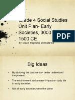 social studies grade 4 unit plan