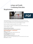 Indiana Marriage and Family Therapists Continuing Education Requirements
