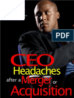 CEO Headaches After a Merger or Acquisition by Aruosa Osemwegie