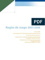 Reglas de Juego FIFA 2007 y 2008