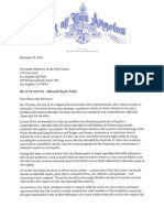 Sidewalk Policy Letter - February 29, 2016