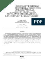 LAS BASES SOCIALES Y POLÍTICAS DE LA ABSTENCIÓN EN LAS ELECCIONES GENERALES ESPAÑOLAS