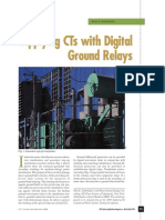 Applying CTs With Digital Ground Relays