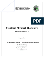 Practical Physical Chemistry Course