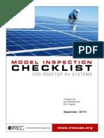 Model Inspection Checklist