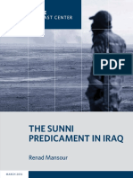 The Sunni Predicament in Iraq