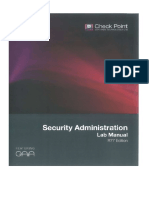 Check Point Security Administration Lab Manual