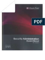 Check Point Security Administration Student Manual