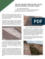 REVEGETACION DE LOS TRAMOS CRITICOS DEL TALUD CANRASH COMPAÑIA MINERA ANTAMINA (PERU)