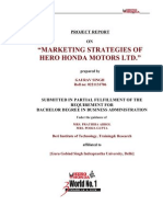 marketing stratergy of hero honda