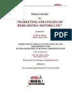 marketing stratergy of hero honda