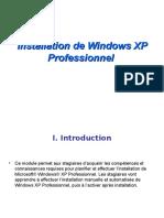 Installation de Windows XP Professionnel