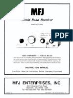 MFJ 8100K Manual