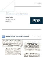 XBMA Global Overview of the M&A Markets