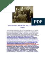 Secret Societies Then & Now Part 3