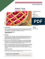 Erdbeer Rhabarber Tarte