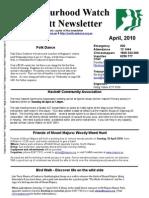 Hackett Neighbourhood Watch Newsletter - April 2010