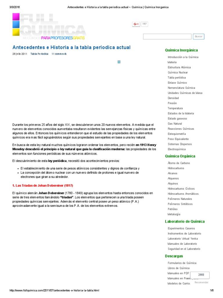 Antecedentes e historia a la tabla periodica actual quimica antecedentes e historia a la tabla periodica actual quimica quimica inorganica urtaz Image collections