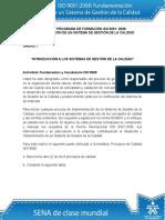 Actividad 1 Fundamentos y Vocabulario ISO 9000
