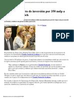 22-02-16 Grupo Lala presenta proyecto de inversión por 350 mdp a Claudia Pavlovich.-Sexenio