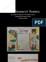 artist research posters