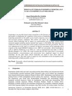 1. Pengaruh Faktor Personaliti Terhadap Kepimpinan Beretika Dan Kesannya Ke Atas Kepercayaan Organisasi