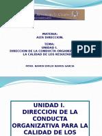 Unidad i Direccion de La Conducta Organizativa