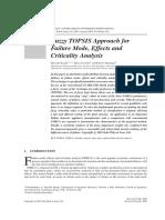 Fuzzy TOPSIS Approach for FMECA (Bozza)