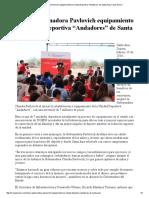 """15-02-16 Inicia Gobernadora Pavlovich equipamiento en Unidad Deportiva """"Andadores"""" de Santa Ana. -Canal Sonora"""