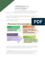 Teorías de Aprendizaje y La Psicopedagogía Sistémica