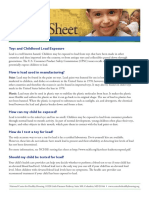 Fact Sheet Lead in Toys