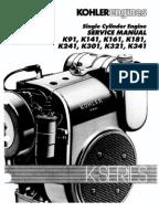 kohler k91 k141 k161 k181 k241 k301 k321 serv man 0472