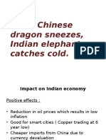 Effect of Chinese crash on Indian Economy