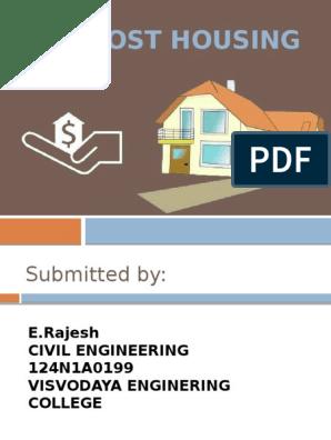 Low Cost Housing Masonry Brick