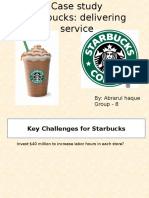 Case Study on Starbucks Service Marketing