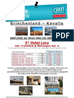 KVA Hotel Lucy 5 Inkl. Mietwagen Kat. a Abfl. 27.05.-16.09.10 ET 20 04