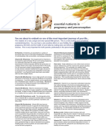 Essential Nutrients in Pregnancy Preconception