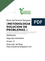Metodología de solución de problemas.
