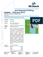 Oil Search Drilling Report - February 2016