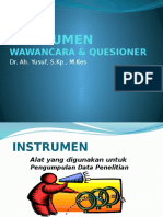 T9_Instrument, Wawancara & Kuisioner_Pak. Yusuf.docx.pptx