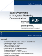 SALES PROMOTION IN IMC