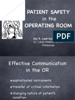 Patients Safety in Operating Theatre